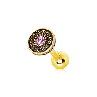 Gold Antique Tribal Shield Cartilage Earring - Fashion Hut Jewelry