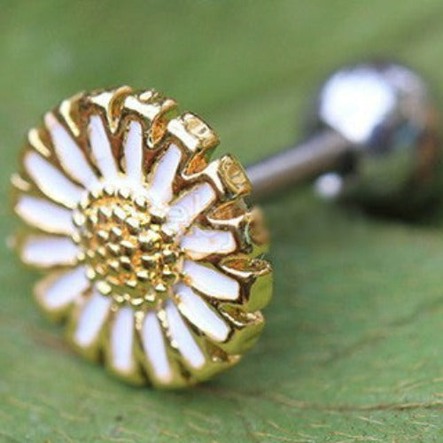 Gold Wild Yellow Daisy Cartilage Earring - Fashion Hut Jewelry