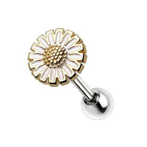 Gold Wild Yellow Daisy Cartilage Earring