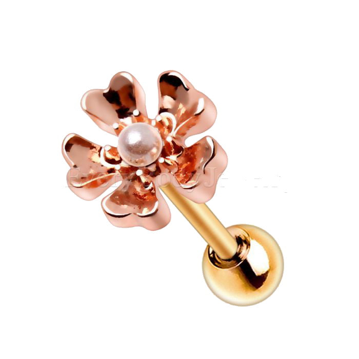 Copper Plated Flower Cartilage Earring - Fashion Hut Jewelry