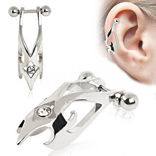 316L Surgical Steel Hawk Cartilage Earring - Fashion Hut Jewelry