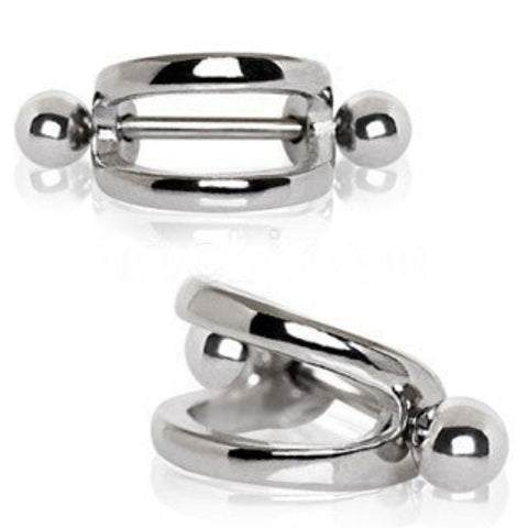316L Stainless Steel Double Line Cartilage Cuff Earring - Fashion Hut Jewelry