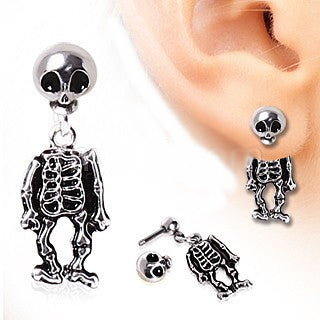 Skeleton Dangle Two-Part Earrings (1 Pair) - Fashion Hut Jewelry
