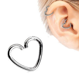 316L Surgical Steel Heart Shaped Cartilage Earring - Fashion Hut Jewelry