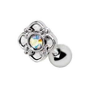 316L Stainless Steel Aurora Flower Cartilage Earring - Fashion Hut Jewelry