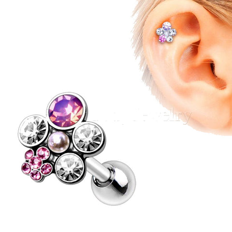 316L Stainless Steel Art of Brilliance Wildflower Cartilage Earring - Fashion Hut Jewelry