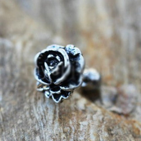 Antique Rose Cartilage Earring / Cartilage Piercing Jewelry - Fashion Hut Jewelry