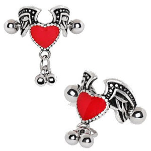Antique Winged Heart Cartilage Cuff Earring - Fashion Hut Jewelry