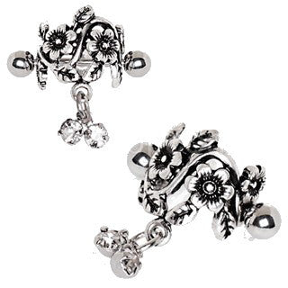 Antique Floral Cartilage Cuff Earring - Fashion Hut Jewelry