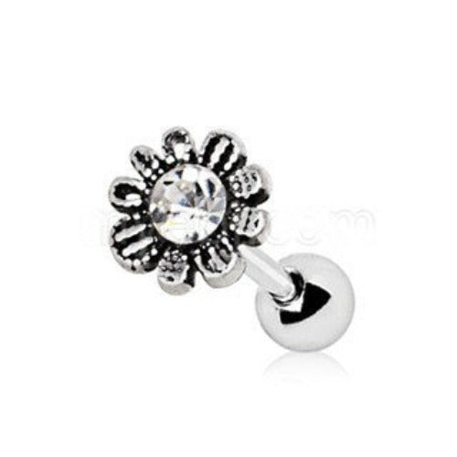 316L Stainless Steel Avant Garde Daily Flower Cartilage Earring - Fashion Hut Jewelry