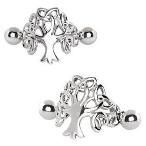316L Stainless Steel Tree of Life Cartilage Cuff Earring - Fashion Hut Jewelry