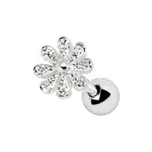 316L Stainless Steel Daisy Flower Cartilage Earring - Fashion Hut Jewelry