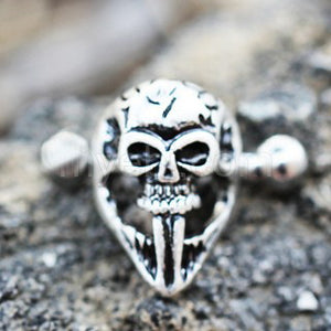 316L Stainless Steel Gothic Skull Mask Cartilage Ear Cuff Earring - Fashion Hut Jewelry
