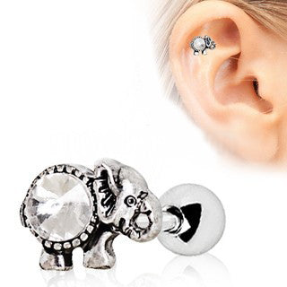 316L Surgical Steel Elephant Cartilage Earring - Fashion Hut Jewelry