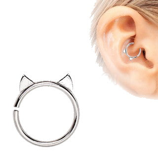 Annealed 316L Stainless Steel Cat Cartilage Earring - Fashion Hut Jewelry