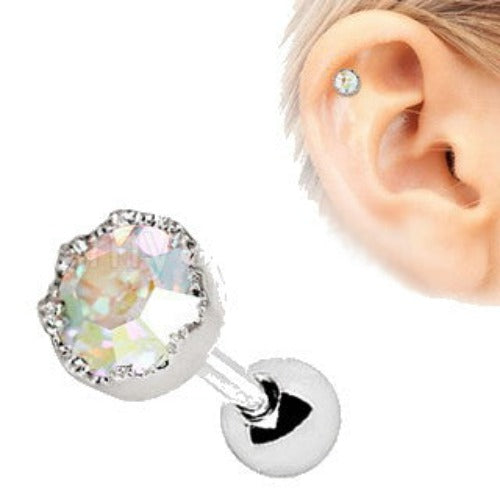 316L Stainless Steel Adorned Aurora Cartilage Earring - Fashion Hut Jewelry