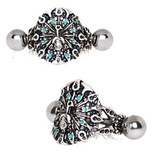 316L Stainless Steel Peacock Cartilage Cuff Earring - Fashion Hut Jewelry
