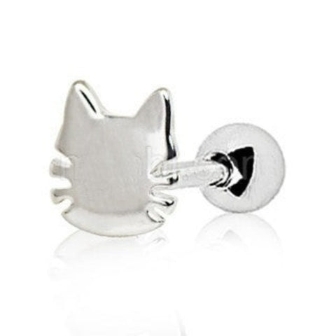 316L Stainless Steel Cat Cartilage Earring - Fashion Hut Jewelry