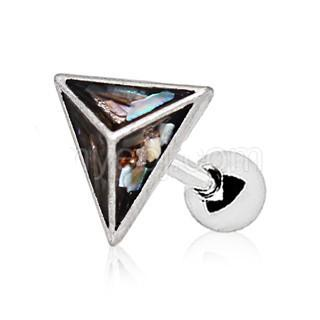 Abalone Shell Pyramid Cartilage Earring - Fashion Hut Jewelry