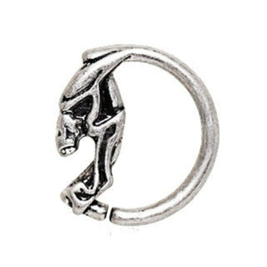 316L Stainless Steel Annealed Devil's Face Circular Ring - Fashion Hut Jewelry