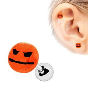 Halloween Face Pumpkin Cartilage Earring