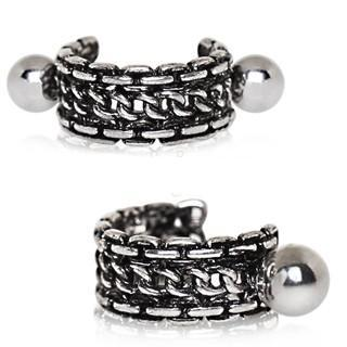316L Stainless Steel Link Chain Cartilage Cuff Earring - Fashion Hut Jewelry