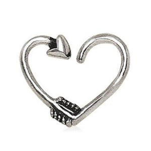 316L Stainless Steel Arrow Heart Cartilage Earring - Fashion Hut Jewelry