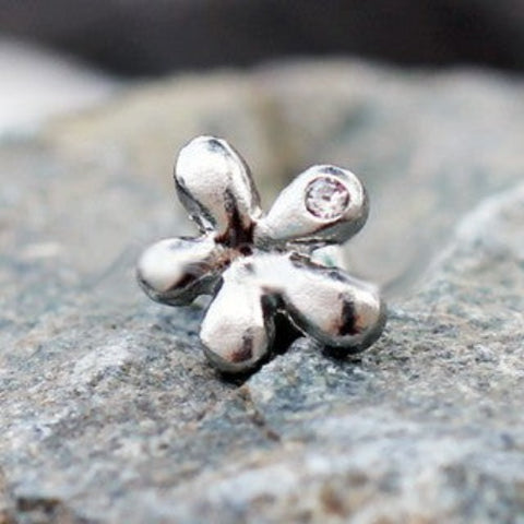 316L Stainless Steel Dew on Wildflower Cartilage Earring