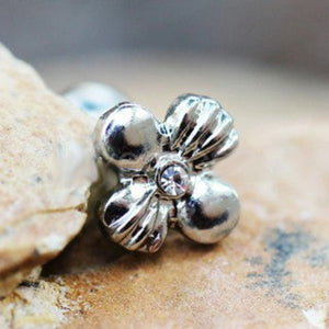 316L Stainless Steel Charming Wildflower Cartilage Earring - Fashion Hut Jewelry