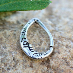 316L Stainless Steel Crescent Moon Teardrop Seamless Ring - Fashion Hut Jewelry