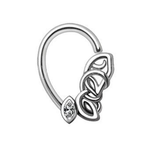 316L Stainless Steel Chained Teardrop Seamless Ring - Fashion Hut Jewelry