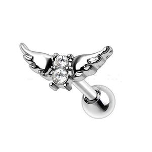316L Stainless Steel Angel Wings Cartilage Earring - Fashion Hut Jewelry