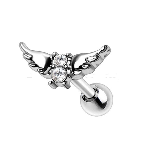 316L Stainless Steel Angel Wings Cartilage Earring