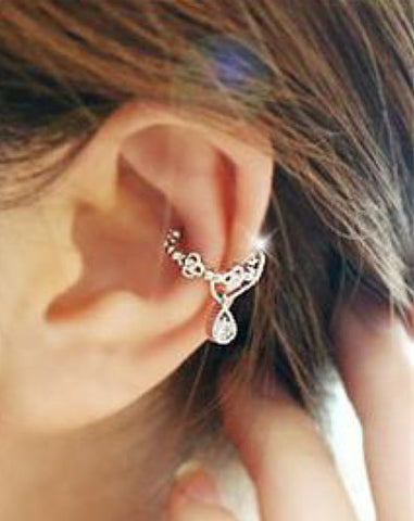 Ear Cuff Wrap Crystal Cartilage Earring - Fashion Hut Jewelry