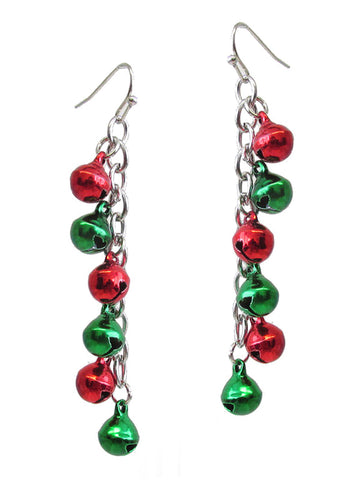 Christmas Multi Drop Jingle Bells Christmas Earrings - Fashion Hut Jewelry
