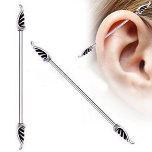 Industrial Barbell with Wings - Fashion Hut Jewelry