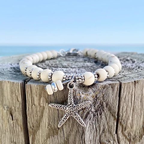 Ivory Turquoise Starfish Anklet - Fashion Hut Jewelry