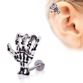 316L Surgical Steel Zombie Claw Labret - Fashion Hut Jewelry