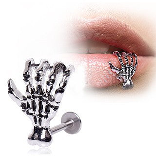 316L Surgical Steel Zombie Claw Labret - Lip - Fashion Hut Jewelry