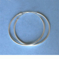 50MM Sterling Silver Endless Hoop Earrings