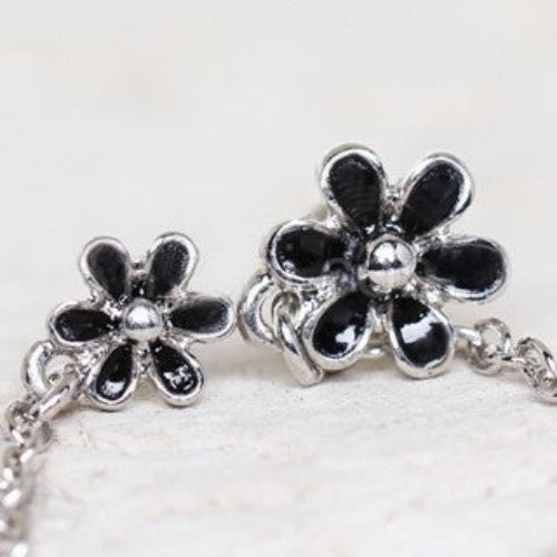 316L Stainless Steel Flower Chain Nose + Cartilage Earring - Fashion Hut Jewelry