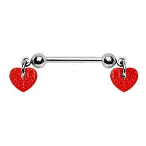 Red Hearts Nipple Bar - Fashion Hut Jewelry