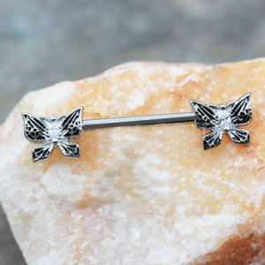 316L Stainless Steel Exotic Butterfly Nipple Bar