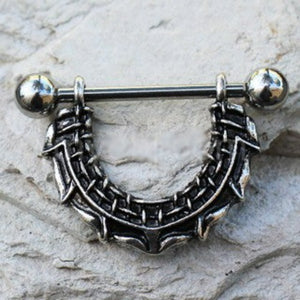 316L Stainless Steel Gothic Barbwire Nipple Shield - Fashion Hut Jewelry