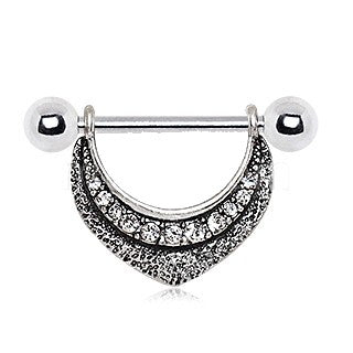 316L Stainless Steel Lavish Lace Nipple Shield - Fashion Hut Jewelry
