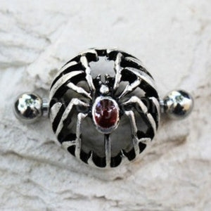 316L Stainless Steel Gothic Spider Dome Shape Nipple Shield - Fashion Hut Jewelry
