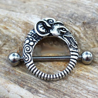 316L Stainless Steel Tribal Elephant Nipple Shield - Fashion Hut Jewelry