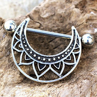 316L Stainless Steel Tribal Nipple Shield - Fashion Hut Jewelry