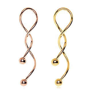 Gold Plated Spiral Navel Rings - Fashion Hut Jewelry