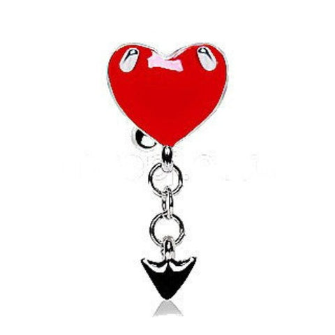 Devil's Heart Top Down Navel Ring - Fashion Hut Jewelry